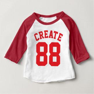 Wit & Rood Baby | Ontwerp van Jersey van Sporten Baby T Shirts