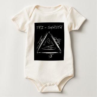 Wit tri-Shasta-Triathalon-logo (op Zwarte) Baby Shirt