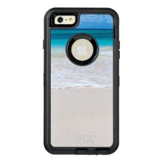 Wit Tropisch Strand en Zee OtterBox Defender iPhone Hoesje