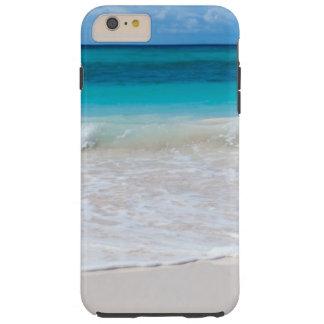 Wit Tropisch Strand en Zee Tough iPhone 6 Plus Hoesje
