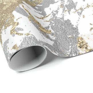 Wit van Champagne van Foxier het Gouden Marmeren Inpakpapier