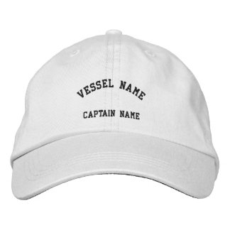 Wit van het Pet van kapiteins het Schip Geborduurde Pet