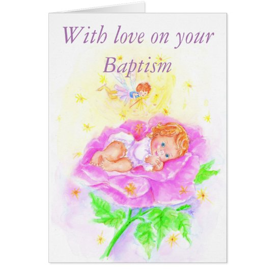 With love on your Baptism Kaart