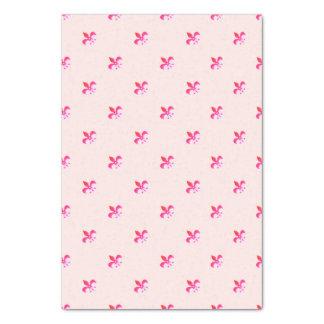 Witte Achtergrond met Pink Fleur DE Lis Tissuepapier