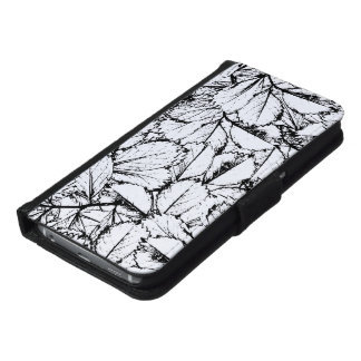 Witte Bladeren Samsung Galaxy S6 Portemonnee Hoesje
