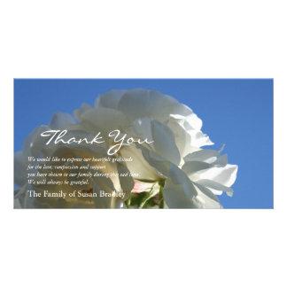 Witte Blauwe Hemel 3 van Rozen Sympathie u danken Kaart
