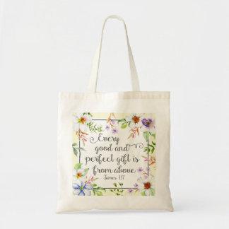 Witte Bloemen Elke Goede en Perfecte Gift Draagtas