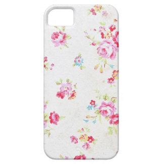 Witte Bloemen Sjofele Elegante iPhone 5/5s Barely There iPhone 5 Hoesje