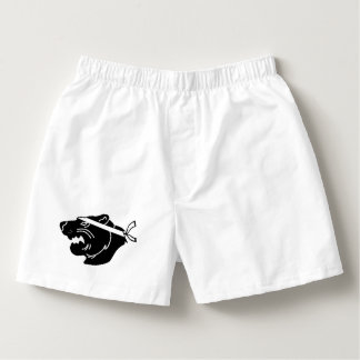 Witte boksers met zwart logo NinjaBear
