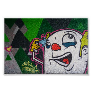 Witte Clown Poster