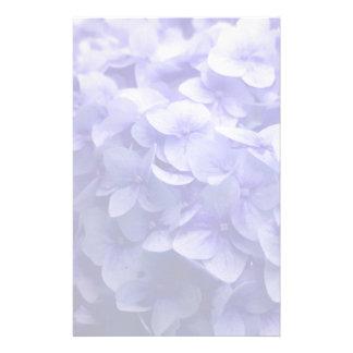 Witte de bloemachtergrond van de Hydrangea Briefpapier