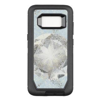 Witte Diamant op de Lichte Blauwe Fonkeling van de OtterBox Defender Samsung Galaxy S8 Hoesje