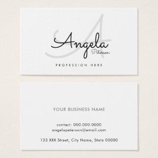 witte duidelijke pro contact-kaart/origineel visitekaartjes