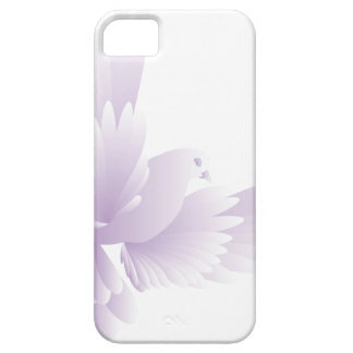 witte duif in blauwe hemel 3 barely there iPhone 5 hoesje