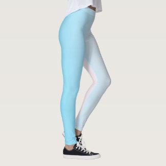 Witte en Blauwe Gradiënt Leggings