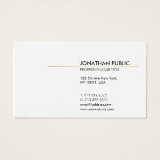 Witte en Gouden Elegante Duidelijke Modern Visitekaartjes