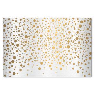 Witte en Metaal Gouden Confettien Tissuepapier