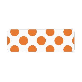 Witte en Oranje Stippen Retouretiket