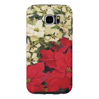 Witte en Rode Poinsettia I Vakantie + Kerstmis Samsung Galaxy S6 Hoesje