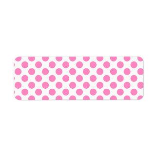 Witte en Roze Stippen Etiket