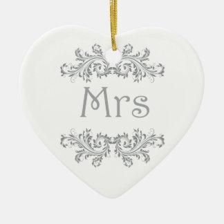 Witte en Zwarte M. & Mevr. Wedding Favor Ornament