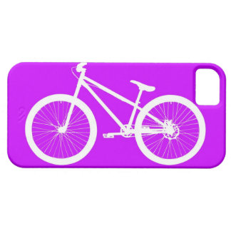 Witte Fiets op Paars Barely There iPhone 5 Hoesje