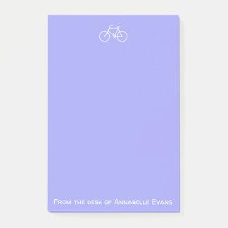 Witte Fiets op Viooltje Post-it® Notes