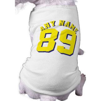 Witte & Gele Huisdieren | Ontwerp van Jersey van T-shirt