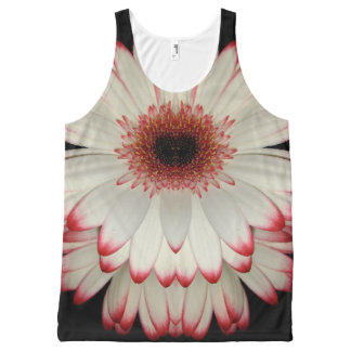 Witte Gerbera Daisy All-Over-Print Tank Top