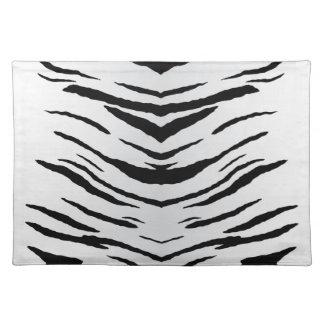 Witte Gestreepte Tijger of Zebra Placemats