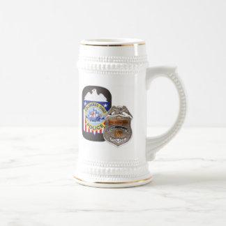 Witte/Gouden 22 oz. Stenen bierkroes Bierpul