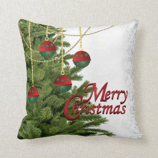 Witte, Gouden, Groene en Rode Vrolijke Kerstmis Sierkussen
