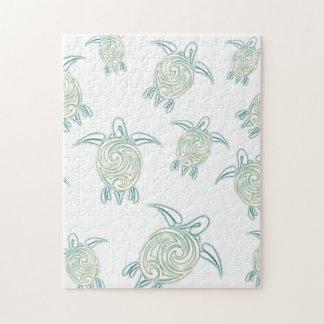 Witte Groen van het Patroon van de Schildpadden Puzzels