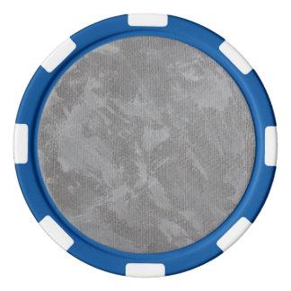 Witte Inkt op Zilveren Achtergrond Pokerchips