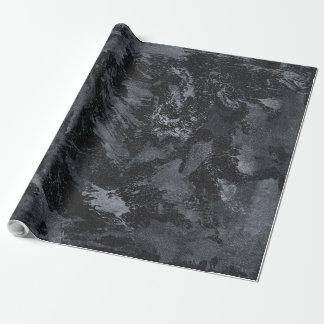 Witte Inkt op Zwarte #2 Inpakpapier