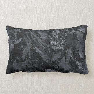 Witte Inkt op Zwarte #2 Lumbar Kussen