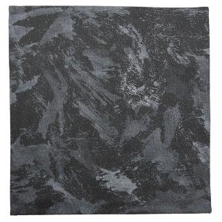 Witte Inkt op Zwarte #2 Servet