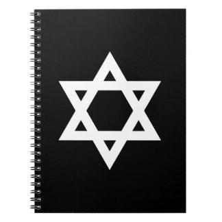 Witte Jodenster Ringband Notitieboek