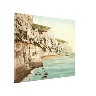 Witte Klippen van Dover, Kent, Engeland Stretched Canvas Afdruk