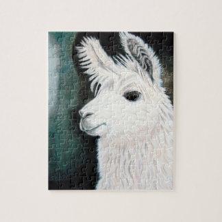 Witte Lama Puzzel