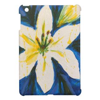 Witte Lelie bij het Blauwe Collectie door Jane iPad Mini Hoesje