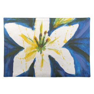 Witte Lelie bij het Blauwe Collectie door Jane Placemat