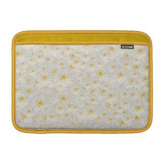 Witte Mums MacBook Air Beschermhoezen