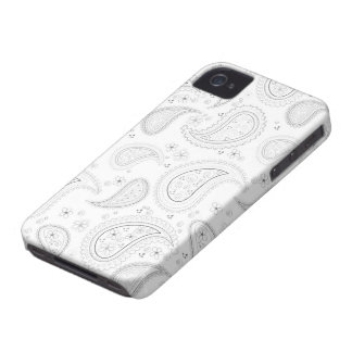 Witte Paisley patroon modieuze iphone 4 casemate iPhone 4 Hoesje