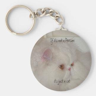 Witte Perzische kat Sleutelhanger
