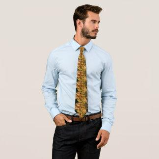 Witte poinsettia in herhalingspatroon stropdas
