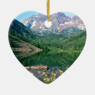 Witte Rivier Colorado van de Klokken van het park Keramisch Hart Ornament