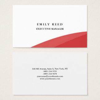 Witte rode krommen moderne professionele visitekaartjes