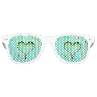 Witte Schaduwen van de Partij van het hart de Retro Zonnebril