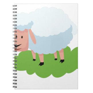 witte schapen en shaun de schapen notitieboek